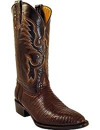 Men's Genuine Lizard R-Toe Western Boot