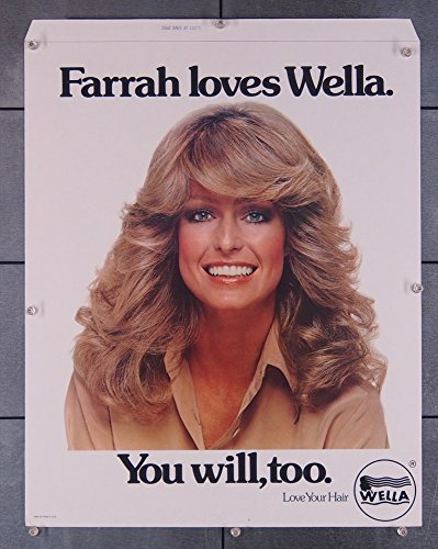 Farrah Fawcett (1975) Promotional Standee for WELLA PRODUCTS circa 1975 Very Fine Plus Condition
