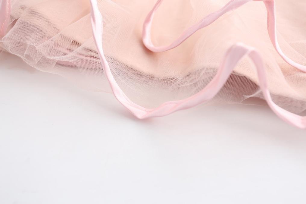 Vestido de ni/ña 7A/ños, Rosado Xinan Vestidos de gasa de la muchacha sin mangas Drape Dress Broche