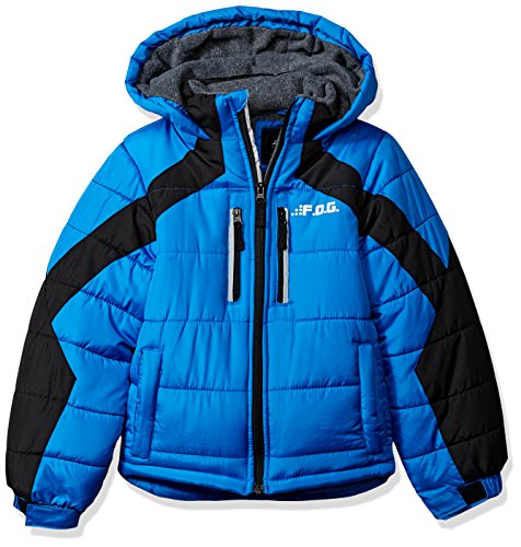 Boys Puff Jacket - London Fog Boys' Little' Active Puffer Jacket Winter Coat, Real Blue, 4