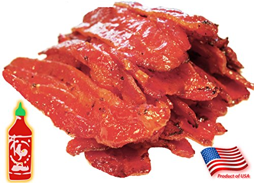 Made to Order Fire-Grilled Asian Bacon Jerky (Sriracha Spicy Flavor - 12 Ounce) aka Singapore Bak Kwa - Los Angeles Times