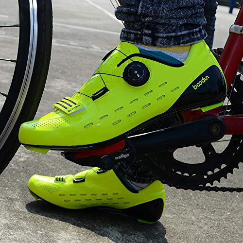Da Green Bulary Rapido Corsa Super Uomo Bici Ciclismo Per Carbonio Scarpe Professionali Leggera Vamp Sgancio Antiscivolo Donna Fibre Scarpa rraq4Uy5