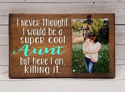 Amazon.com: Super Cool Aunt, killing it! clip frame. Photo board ...