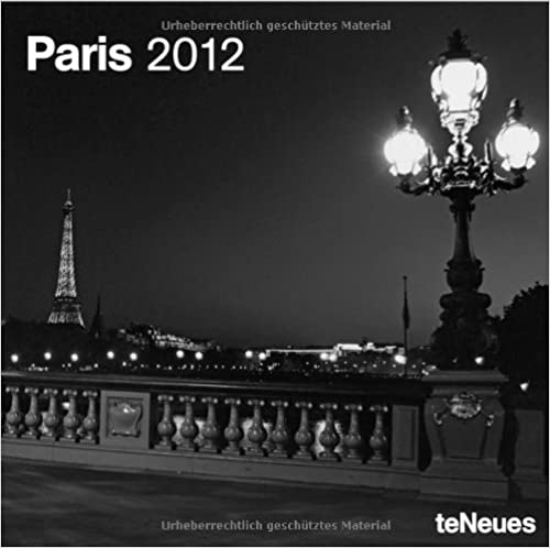 2012 Paris Mini Wall Calendar (English, German, French, Italian, Spanish and Dutch Edition)