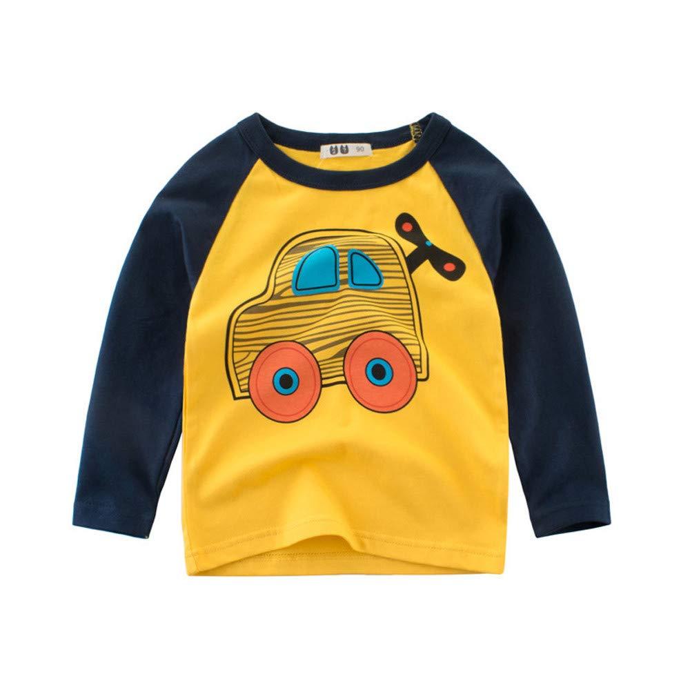 Bebés Juego de Ropa Encantadora, YpingLonk Coche Impresión Historieta Camisa de Fondo Sudadera de Recién Nacidos Aprendiendo a Caminar (12 Meses-5 Años): ...