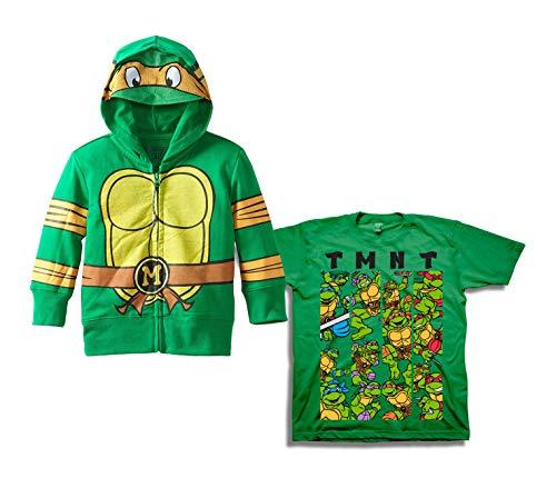 (Teenage Mutant Ninja Turtles Set - 2 Pack of Teenage Mutant Ninja Turtles Hoodie and Tee (Green/Green, 4T))