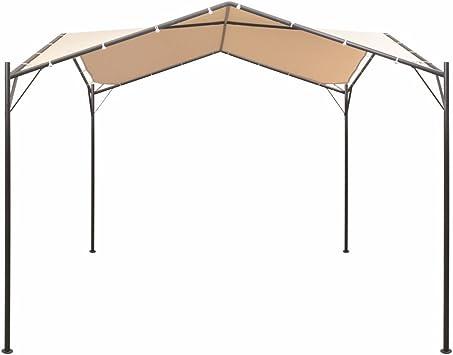 vidaXL Cenador 4x4 m de acero beige: Amazon.es: Hogar