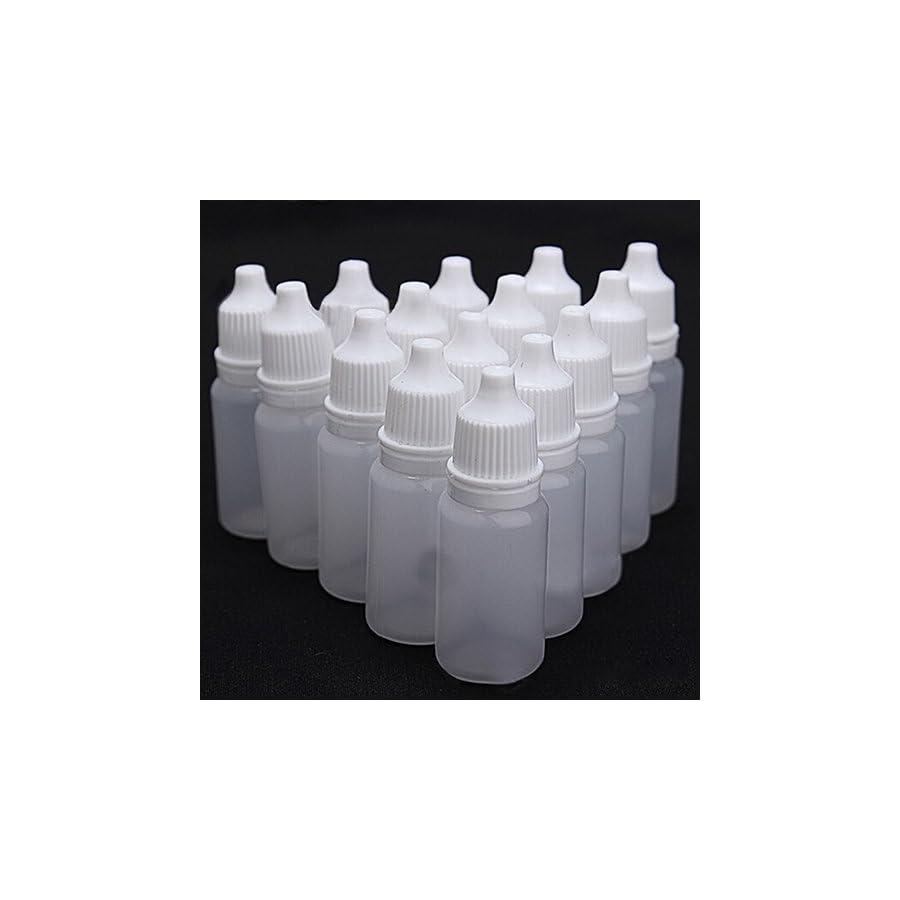Braceus 5 Pcs Durable 5 100ml Empty Plastic Squeezable Dropper Bottles Eye Liquid Dropper