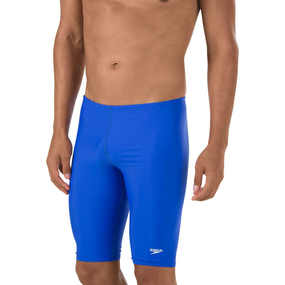Speedo Men's Swimsuit-Solid Jammer, Powerflex Eco, 34, New Sapphire by Speedo