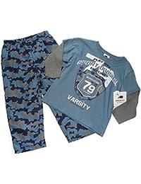 Boys Size 4 Camo Camouflage Athletic Pants Long-Sleeved Varsity Shirt,
