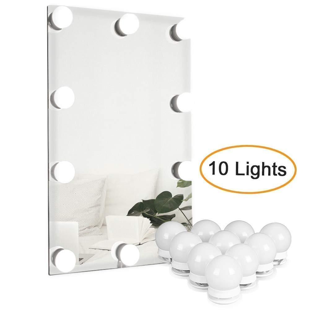 Waneway Kit De Lumire LED Pour Miroir Courtoisie Hollywood Maquillage Lampe Cosmtique Coiffeuse Table4 Mtres10