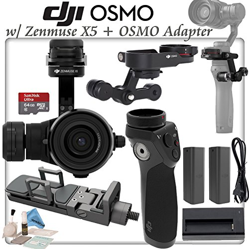 DJI Zenmuse X5 with 15mm f/1.7 Lens & X5 OSMO Adapter & OSMO Handle Bundle by DJI