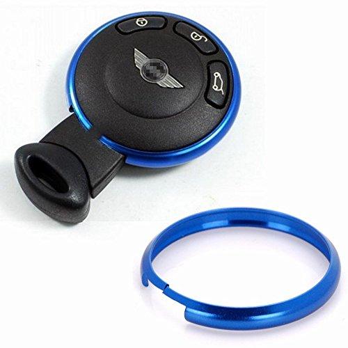 Dark blue Key Fob case shell Decorate Metal Trim Ring For BMW Mini Cooper JCW R55 R56 R57 R58 R59 R60 08+