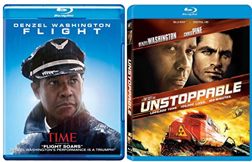 Unstoppable + Flight Blu Ray 2 Pack Denzel Washington Action Movie Set (Pelham Jobs)