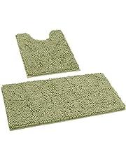 HOMEIDEAS 3 Pieces Bathroom Rugs Set