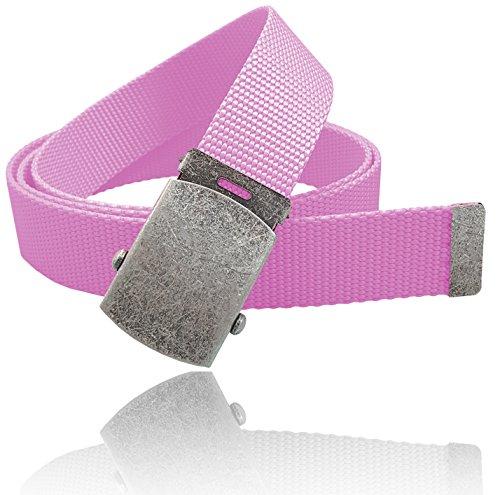 Ladies Canvas Belts (Luna Sosano Men and Women Cotton Canvas Web Belt - 1.25