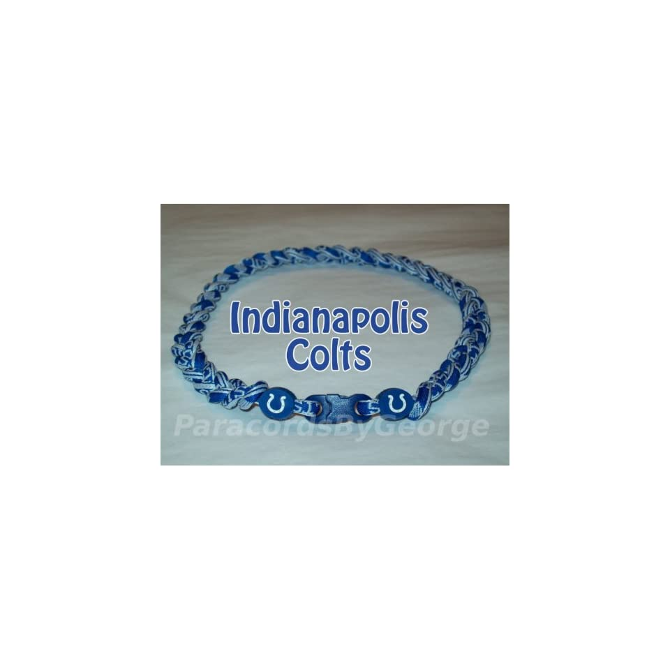 NFL Indianapolis Colts 3 Rope x50 Titanium Tornado Sport Necklace   18