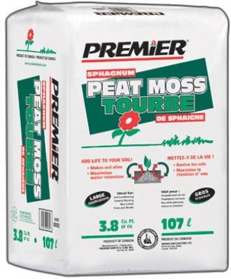 Premier Horticulture 0082P 3.8Cu Ft Sphag Peat Moss by PREMIER HORTICULTURE