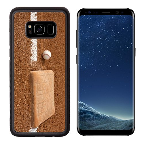 MSD Premium Samsung Galaxy S8 Aluminum Backplate Bumper Snap Case Baseball near Third Base with room for copy IMAGE 23748606