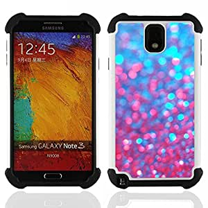For Samsung Galaxy Note3 N9000 N9008V N9009 - Blue Glitter Red Purple Sparkling Bling Dual Layer caso de Shell HUELGA Impacto pata de cabra con im????genes gr????ficas Steam - Funny Shop -