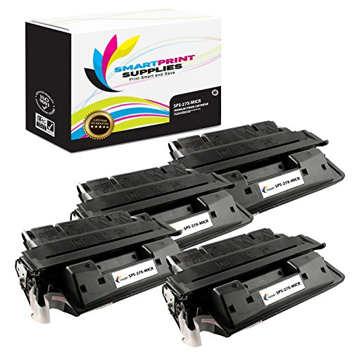 Smart Print Supplies Compatible 27X C4127X MICR Black High Yield Toner Cartridge Replacement for HP Laserjet 4000 4050 Series Printers (10,000 Pages) - 4 Pack 4000 4050 Series Black