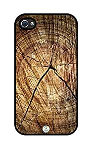 iZERCASE Cracked Wood Pattern iphone 4, iphone 4S case - Fits iphone 4/4S AT&T, Sprint, Verizon, International Unlocked