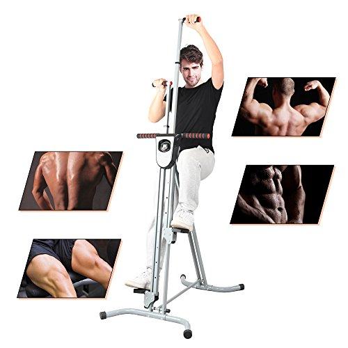 Apelila Total Body Workout Vertical Climber Machine, Folding Climbing Machine for Home Gym Step Climber