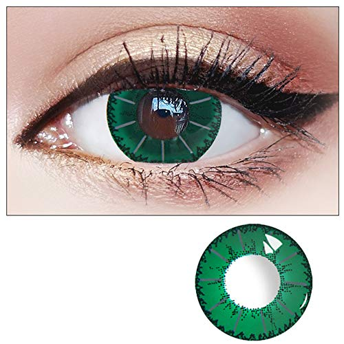 WQFXYZ Women Multi-Color Contact Lenses Cosplay Eyes Cute Charm and Attractive Fashion Eye Accessories Cosmetic Makeup Eye Shadow (35)