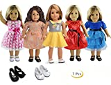 "Best Dolls For 1 Year Old Girls - 5PC Lots Doll Clothes for 18"" Dolls American Review"