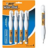 BIC Wite-Out Shake 'n Squeeze Correction Pen, 8 ml, White, 4/Pack (WOSQPP418)