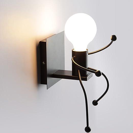 Modern Creative Cartoon Wall Lamp In Internal Iron Linda Character Design  Wall Light Chandeliers Charming Art