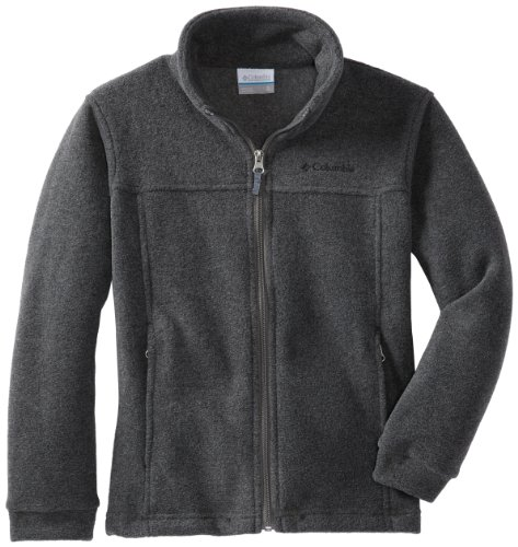 Columbia Big Boys' Steens Mt II Fleece, Charcoal Heather, Large
