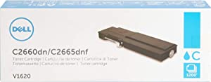 Dell V1620 Toner Cartridge C2660dn/C2665dnf Color Laser Printer,Cyan
