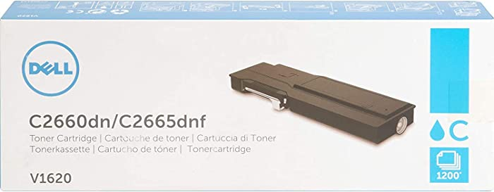 Dell V1620 Toner Cartridge C2660dn/C2665dnf Color Laser Printer,Cyan