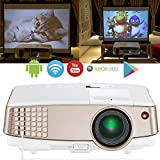 Portable WiFi Projector HD 1080P Support, Mini Home Theater Multimedia LED LCD Projector HDMI with Built-in Speaker  for Movie Video Games iPhone iPad Android Smartphone Mac