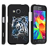 Samsung Galaxy Core Prime, Hard Snap On Protective Cover with Creative Graphic Image - White Tiger