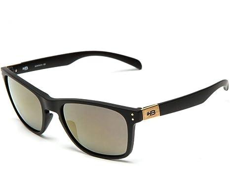 f626e8d6a5af9 Óculos de Sol Hb Gipps ll 9013800189 55 Preto Fosco Espelhado Gold ...