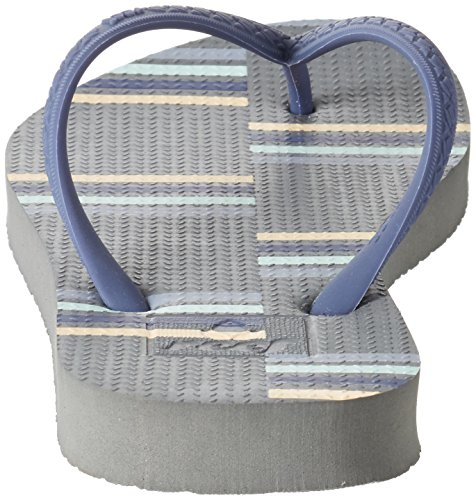 Reef Escape, Sandalias para Mujer Multicolor (Grey/Stripe)