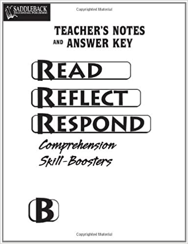 read reflect respond book b answer key cd saddleback educational publishing