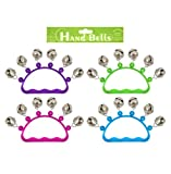 Set of 4 Hand Bells with Coloured Transparent Handle