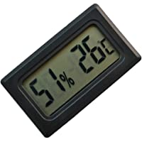 F Fityle Digital Hygrometer Thermometer, Humidity and Temperature Gauge Indicator, with LCD Backlight, for Indoor Home…