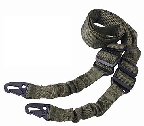 Ultimate Arms Gear OD Olive Drab Green Bungee Springfield Armory, M1A,M1-A Garand/Carbine, Socom Rifle-Shotgun-QD Quick Detatch Shoulder Strap