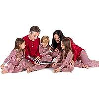 Burt's Bees Baby Family Jammies, Candy Cane Stripe, Holiday Matching Pajamas, 100% Organic Cotton