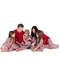 Family Jammies, Candy Cane Stripe, Holiday Matching Pajamas, 100% Organic Cotton