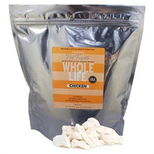 Whole Life Pet Products Pure Meat All Natural Freeze Dried Chicken Breast Treats for Dogs, and Cats, 10-Ounce, My Pet Supplies