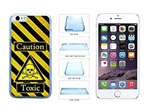 Caution Warning Toxic With Danger Sign Black Yellow Diagonal Stripes Clear Side Plastic Phone Case Back Cover For degree Apple iPhone nursing 6 (4.7 In) be knowledge Kimberly Kurzendoerfer
