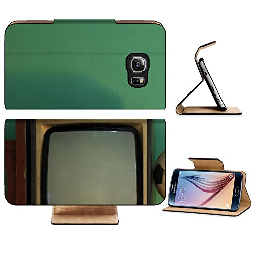 Luxlady Premium Samsung Galaxy S6 Edge Flip Pu Leather Wallet Case Image 26743537 An Old Soccer Ball On A Retro Tv With Retro Green Paint Wall