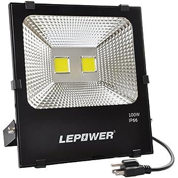 100W New Craft LED Flood Lights, Super Bright Work Lights, 500W Halogen  Bulb Equivalent, IP66 Waterproof, 8000Lm, 6500K, Outdoor Floodlight For  Garage, ...