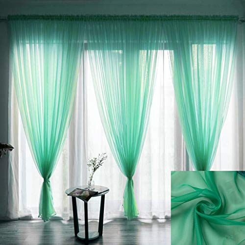 AMOFINY Home Textiles Leaves Sheer Curtain Tulle Window Treatment Voile Drape Valance 1 Panel Fabric from AMOFINY-Home Decoration