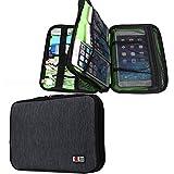 BUBM Travel Waterproof Handbag Double Layer Gear Cord Organizer Electronics Accessories Cable Bag (Black)
